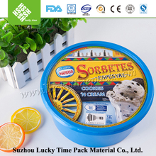 Round Disposable Plastic Storage Container with Lid