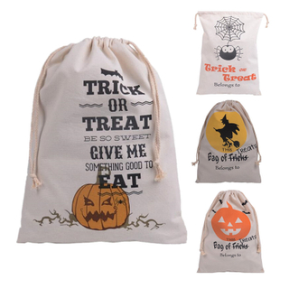 Halloween Sack Hessian Stocking Candy Bag Children Gifts Christmas