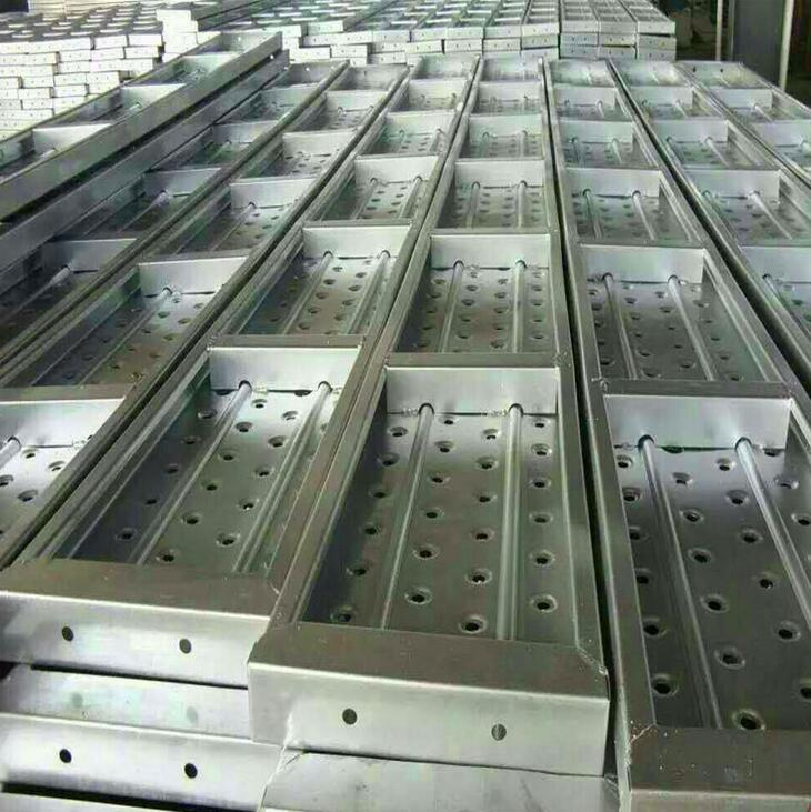 strong galvanized scaffolding plate steel plank with 4 hooks