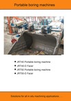 POTABLE LINE BORING MACHINE JRT SERIES