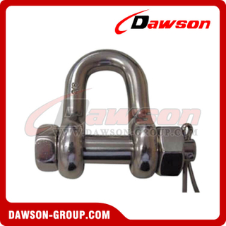Aço inoxidável Bolt Chain Shackle Safety Pin Nut