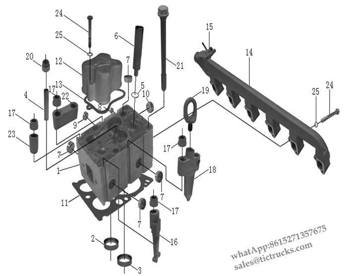 Weichai Engine Parts China Truck Weichai Engine Parts Cylinder Head