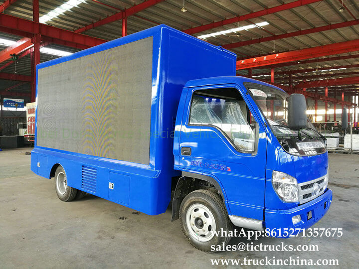 Foton 4x2 LED stage truck-16-factory-LED advertise truck