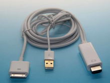 Apple hdmi adapter cable ipad transfer to hdmi ipad2 3, HD video cable Connect directly to 1.8 meter cable Charge (USD25)