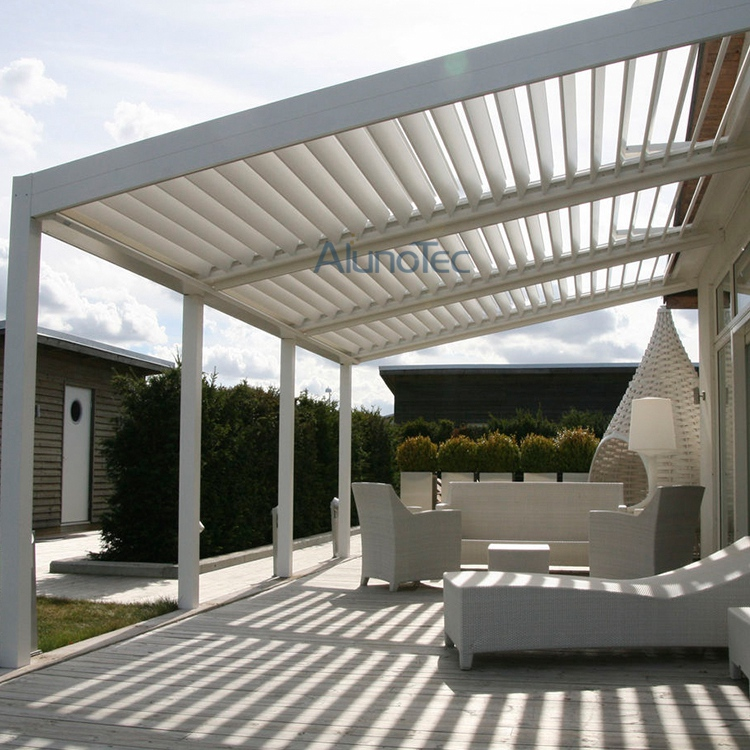 motorized and waterproof garden deck pergola louvre system buy motorized pergola garden. Black Bedroom Furniture Sets. Home Design Ideas