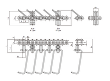 Conveyor chains for sausage production