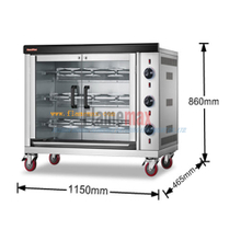 HGJ-3PA 2017 new arrival economic gas rotisserie (3-Rod) in China