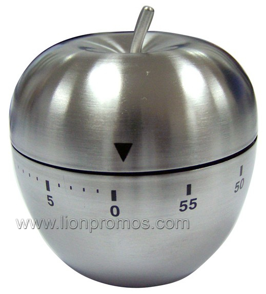 Custom Stainless Steel Egg,Apple Shape Michanical Kitchen Timer