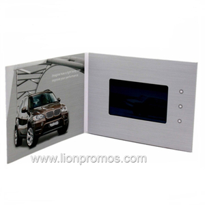 "4.3"" LCD Screen Custom Video Brochure Card"
