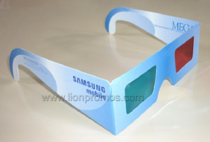 Custom Printing Mobile Promotional Gift Cinema Paper 3D Glass