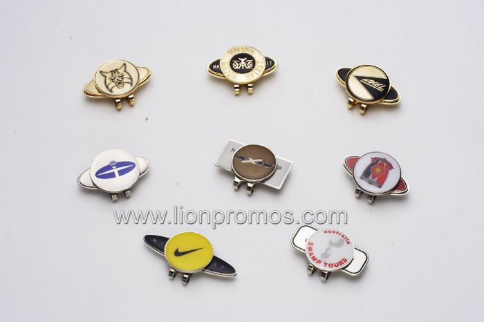 Personalized Logo Zinc Alloy Magnet Golf Marker