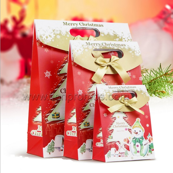Christmas Season Theme Boutique Gift Paper Bag