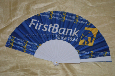 First Bank Promotional Gift Fabric Folding Fan