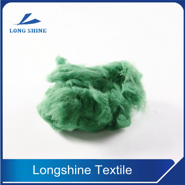 Solid Green Dope Dyed Polyester Staple Fiber