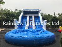 Big Commercial Inflatable Water Slide with Pool for Children