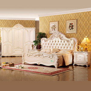 W809 Bedroom Furniture Set with Wood Bed Sets