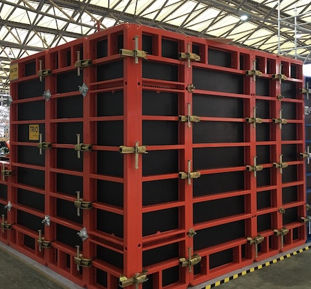 NGM_Vertical Wall_TRIO Frame Formwork_With Plywood c