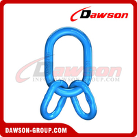 G100 / Grade 100 Master Link Assembly com Flat for Wire Rope Lifting Slings