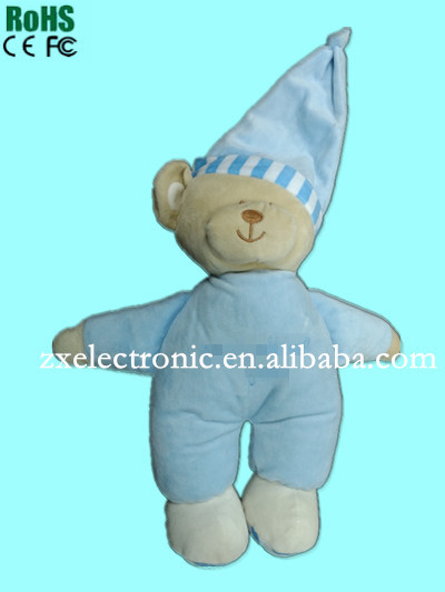 New design stuffed animal sound plush toy with motion activated for Children's Day