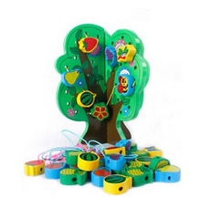 Lacing Wooden Beads Toys