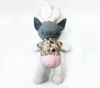 Plush Rabbit Ear Dog Toys Animals Stuffed With Pink Pants