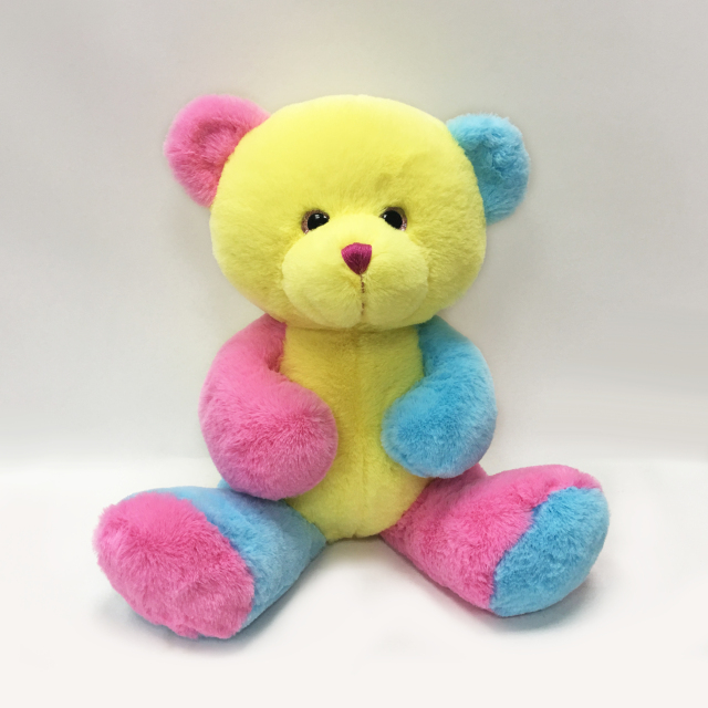 Cheap Popular Toys Plush Stuffed 30cm Colorful Teddy Bear