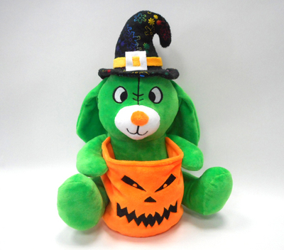 Soft Toy Basket Custom Storage Green Plush Dog Easter Basket