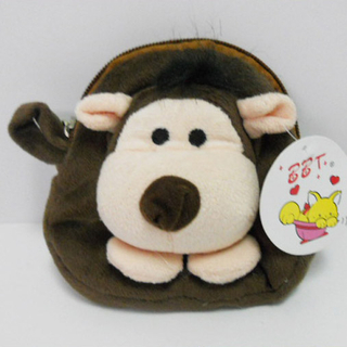 Cute Soft Plush Hedgehog Shaped Coin Purse for Kids