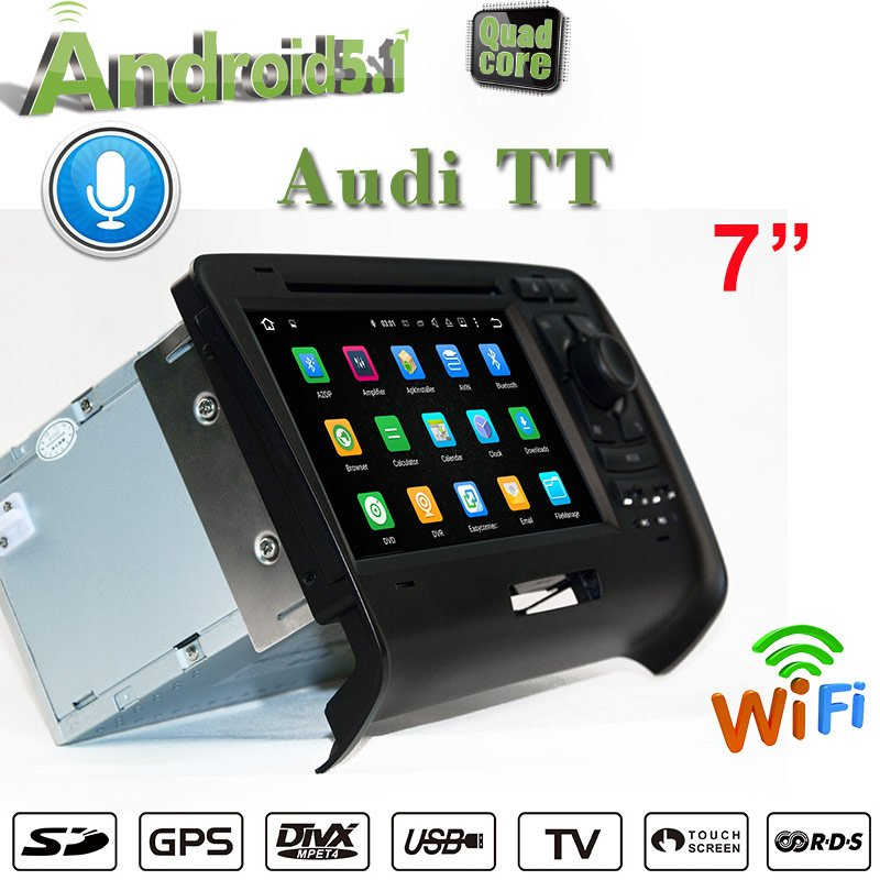 7'carplay Car Dvd Player Audi TT RS Navigation Car Stereo Android 9.0 Screen Mirroring