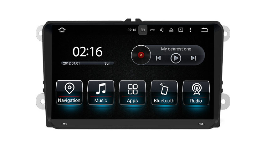 "9""Carplay Volkswagen Beetle Caddy Tiguan Scirocco Android 9.0 Car Stereo DAB Wifi Carplay Auto"
