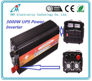 3000W 12V to 220V dc to ac power inverter with UPS charger