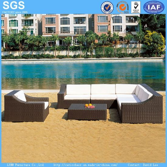 Outdoor Garden Furniture Synthetic Wicker Sofa