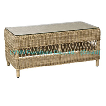 Round Rattan Coffee Table for Outdoor Sofa Set