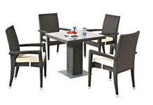 Outdoor Stacking Dining Rattan Chair Rattan Table Garden Furniture