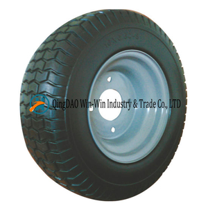 Non-Pneumatic Polyurethane Foam Wheel with Spoke Rim (16*6.50-8)