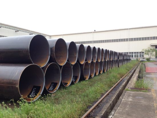 Large Diameter LSAW Carbon Steel Pipe Conveying Fluid Petroleum Gas Oil