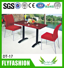 Cheap home canteen furniture square dining tables and chair (DT-17)