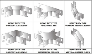 Cable Trunking Accessories Hozizontal Tees/Crosses/Vertical Outside/Inside Elbows