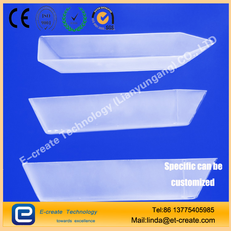 Semiconductor quartz crystal boat with a pull