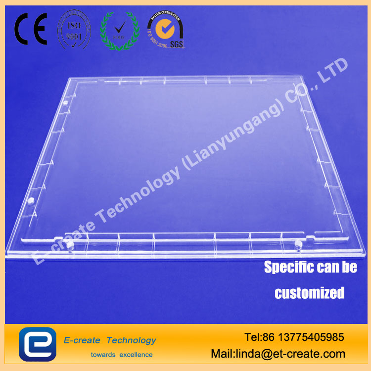 Quartz channel quartz perforated sheet microporous processing grooved quartz chip trunking ducts made of quartz