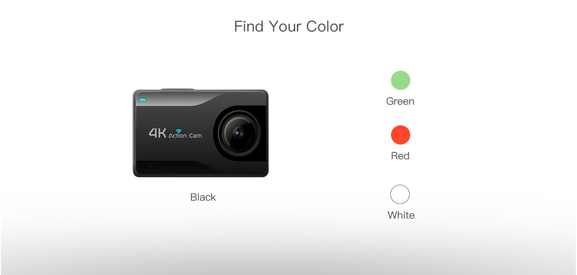 B1KS+ HiSilicon 4K Action Camera Four Color Options