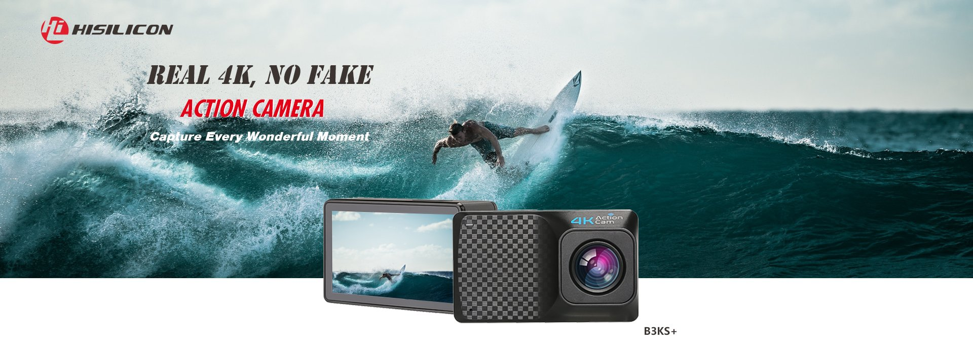 B3KS+ HiSilicon Hi3559 Action Camera