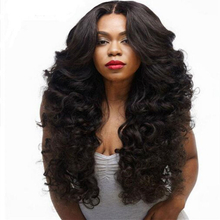 Long Wave Synthetic Wigs for Black Women Black Heat Resistant False Fake Hair