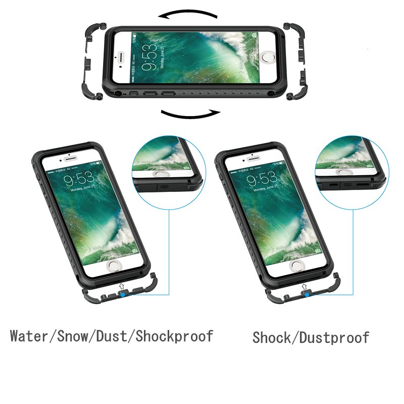 Two Ways to Use Water/Dustproof Phone Case for iPhone 7