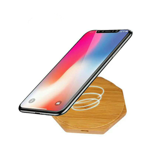 New Products Wholesale QI Wireless Charger Portable Desktop Wireless Fast Charger for Cell Phone Wooden Wireless Charger for IPhone