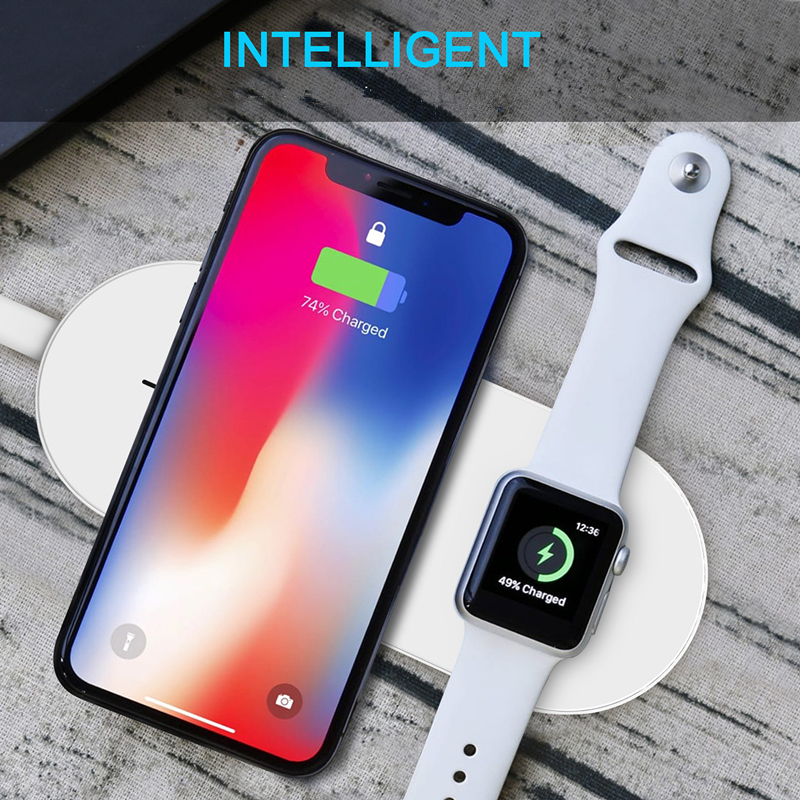 2018 New Products Wholesale Fast Universal QI Wireless Charger 2in1 Wireless Fast Charger for IPhone And Apple Watch