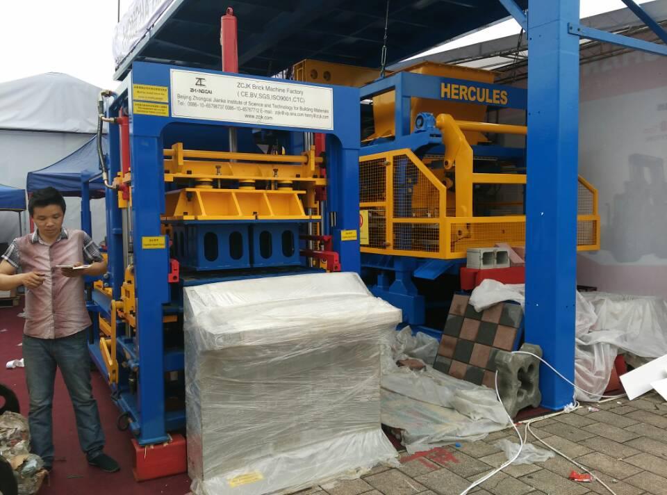ZCJK6-15 hidráulica Bloco Máquina em Canton Fair