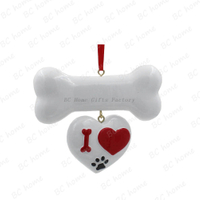 I Love Bone Ornament Personalized Christmas Tree Ornament