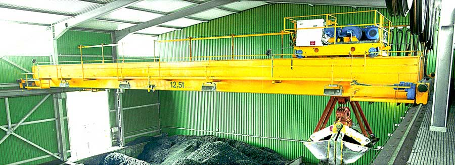 Waste Grab Bridge Crane