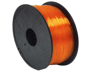 1.75mm/3.0mm 1kg Spool Transparent Orange Color PLA 3D Printer Filament
